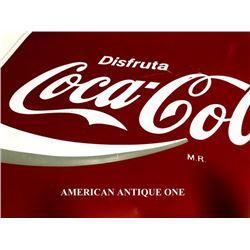 Spanish 44cm USA Coca-Cola Sign