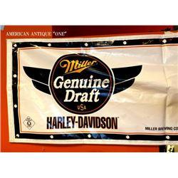 179cm Harley-Davidson & Miller Beer Tapestry Store Display