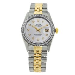 Rolex Pre-owned 36mm Mens White Two Tone - REF-610K4X