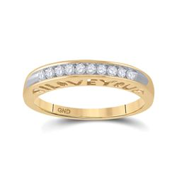 1/5 CTW Round Diamond I Love You Ring 10kt Yellow Gold - REF-16R8H