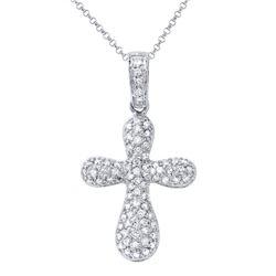 0.67 CTW Diamond Necklace 18K White Gold - REF-51R2K
