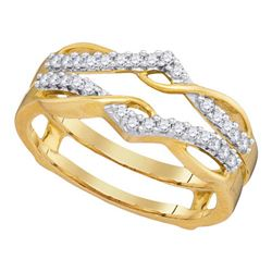 1/4 CTW Round Diamond Wrap Ring 10kt Yellow Gold - REF-24X3T