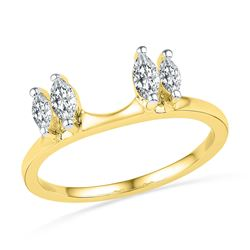 1/2 CTW Oval Diamond Ring 14kt Yellow Gold - REF-47M9A
