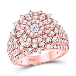 2 CTW Round Diamond Solitaire Bridal Wedding Engagement Ring 14kt Rose Gold - REF-137T9K