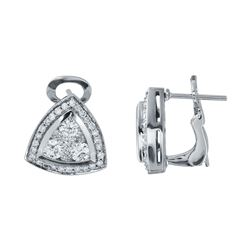 1.5 CTW Diamond Earrings 14K White Gold - REF-177F9N