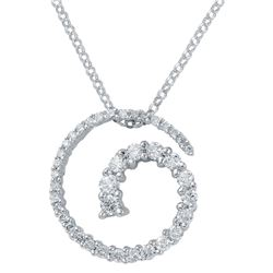 0.49 CTW Diamond Necklace 14K White Gold - REF-42X5R