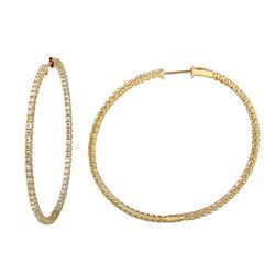4.46 CTW Diamond Earrings 14K Yellow Gold - REF-311N3Y
