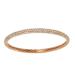 6.16 CTW Diamond Bangle 18K Rose Gold - REF-556F4N