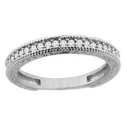 0.15 CTW Diamond Ring 14K White Gold - REF-41V3R