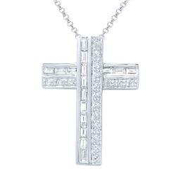 0.73 CTW Diamond Necklace 18K White Gold - REF-83X6R