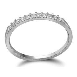 1/6 CTW Round Diamond Wedding Ring 10kt White Gold - REF-10X8T