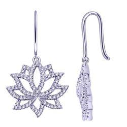 0.21 CTW Diamond Earrings 14K White Gold - REF-24K4W