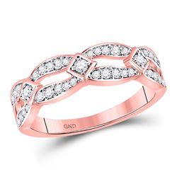 1/3 CTW Round Diamond Fashion Ring 10kt Rose Gold - REF-26N3Y
