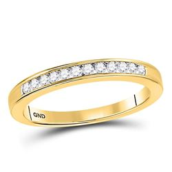 1/6 CTW Round Channel-set Diamond Wedding Ring 14kt Yellow Gold - REF-21W5F
