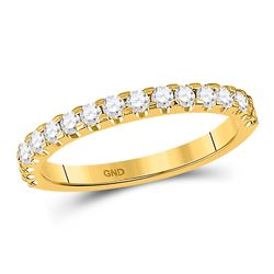 1/2 CTW Round Diamond Wedding Machine-Set Ring 14kt Yellow Gold - REF-41T9K