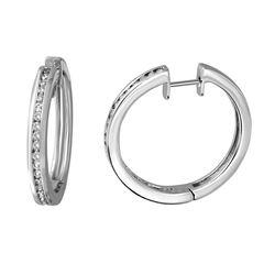 0.95 CTW Diamond Earrings 14K White Gold - REF-108M5F