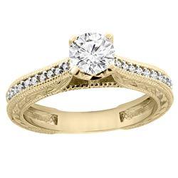 0.65 CTW Diamond Ring 14K Yellow Gold - REF-147A4X