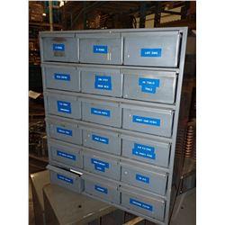 """17"""" x 21"""" Durham Steel Storage Unit w/ Contents"""