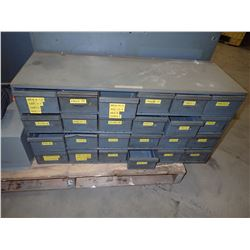 "17"" x 34"" x 12"" Steel Shelve Unit w/ Bins"