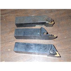 "(3) 1.25"" x 1.25"" Lathe Tool Holders"