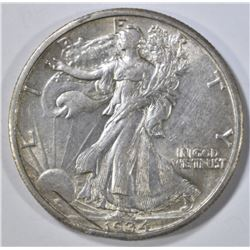 1934-S WALKING LIBERTY HALF DOLLAR, XF obv srratch