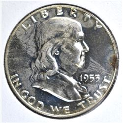 1953 FRANKLIN HALF CH PROOF