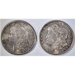 1881-S & 1921-D MORGAN DOLLARS CH BU