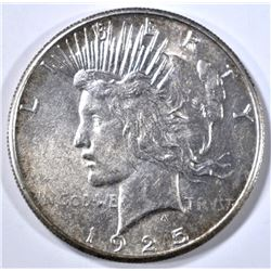 1925-S PEACE DOLLAR, AU/BU