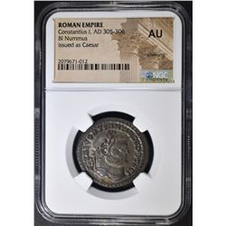 AD 305-306 CONSTANTIUS I  NGC AU SILVERING