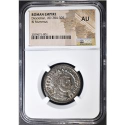 AD 284-305 DIOCLETIAN  NGC AU