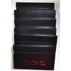 1992, 93, 94, 95, 96 & 97 SILVER PROOF SETS