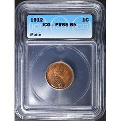 1912  LINCOLN CENT  ICG PR-65 BN