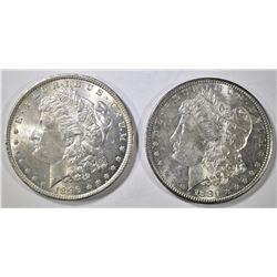 1881-S & 1896 MORGAN DOLLAR  CH BU