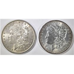 1886 & 1889 MORGAN DOLLAR  CH BU