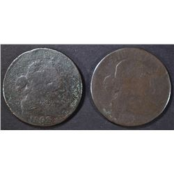 2 1802 LARGE CENTS AG