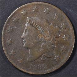 1832 LARGE CENT FINE