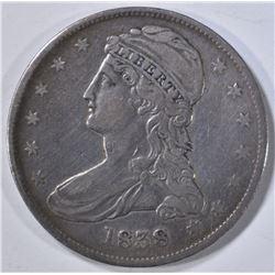 1838 BUST HALF XF