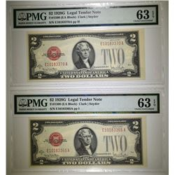 2-1928G $2 RED SEAL NOTES, PMG-63 EPQ