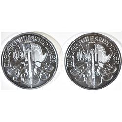 2-2015 AUSTRIA 1-Oz SILVER PHILHARMONIC COINS