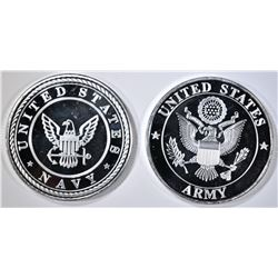 ARMY & NAVY 1-oz .999 SILVER ROUNDS