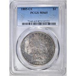 1885-CC MORGAN DOLLAR  PCGS MS-65