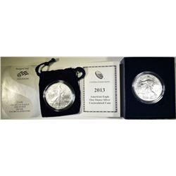 2006-W & 2013-W AMERICAN SILVER EAGLES UNC