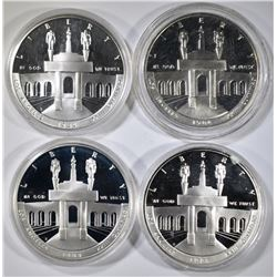 LOT OF 4 1984 OLYMPICS SILVER $1 PROOF COMMEMS