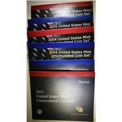 2012, 2014 & 2015 U.S. MINT UNC SETS