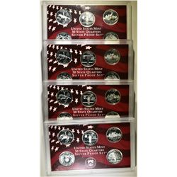 LOT OF 4 1999 SILVER PROOF STATE QUARTERS