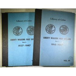COMPLETE WALKING LIBERTY SET 1916-47 IN ALBUMS