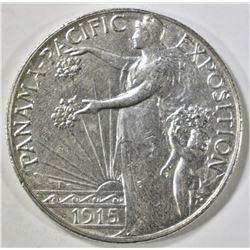 1915-S PAN PAC COMMEM HALF DOLLAR  AU