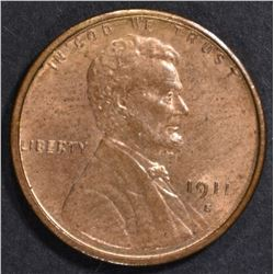 1911-S LINCOLN CENT  CH BU  RB