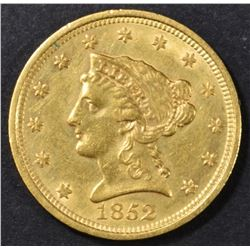 1852 $2.5 GOLD LIBERTY AU