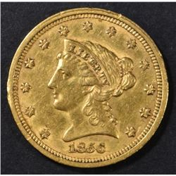 1856 $2.5 GOLD LIBERTY  AU